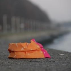 Komin pomarańczowo - różowy